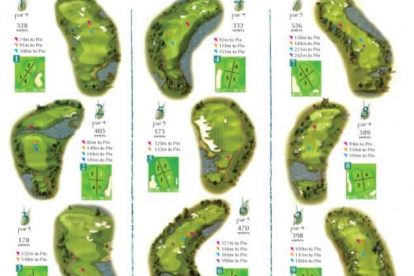 The Glades Golf Club Map 1-9