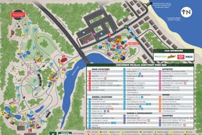 Currumbin Wildlife Sanctuary Map