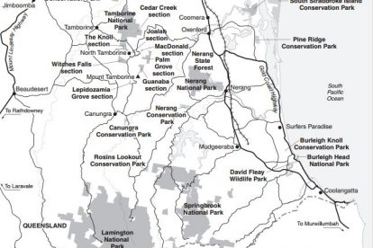 Gold Coast Hinterland Map