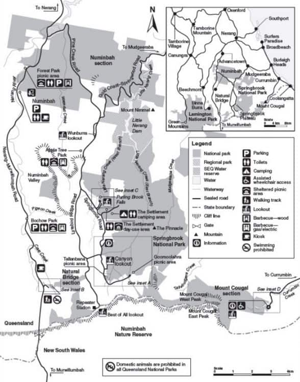 Springbrook National Park Map