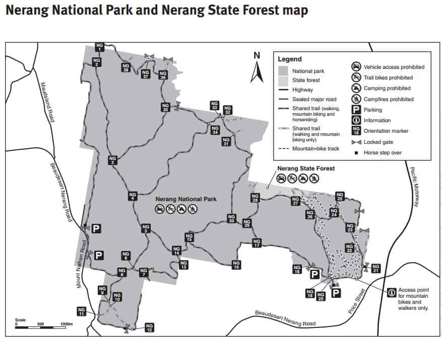 Nerang State Forest Map