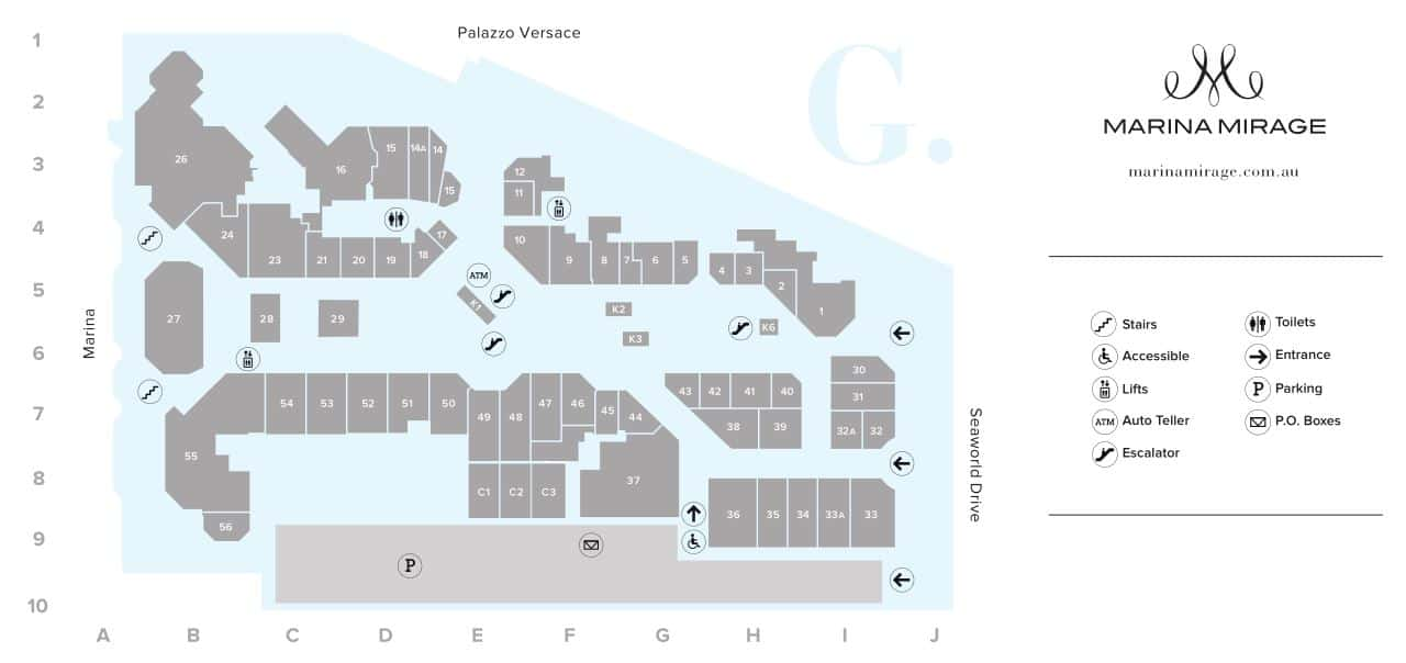 Marina Mirage Map Ground Level
