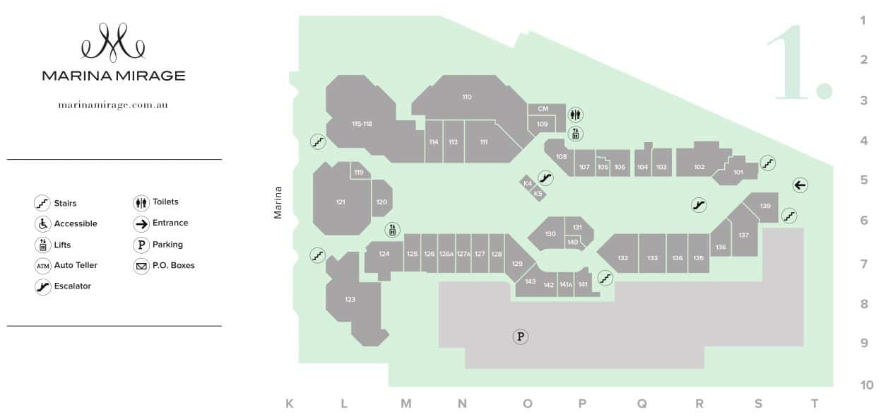 Marina Mirage Map Level 1