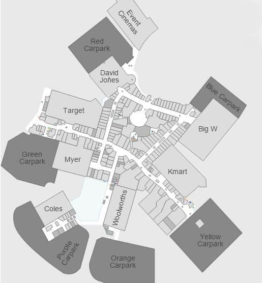 Robina Town Centre Map Robina Town Centre   Trading Hours, Map, Cinemas & Shops Robina Town Centre Map