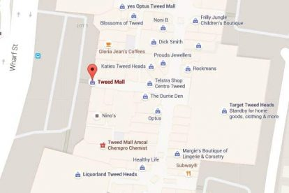 Tweed Mall Map