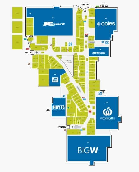 Tweed Shopping Centre Map
