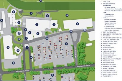 Gold Coast Turf Club Venue Map