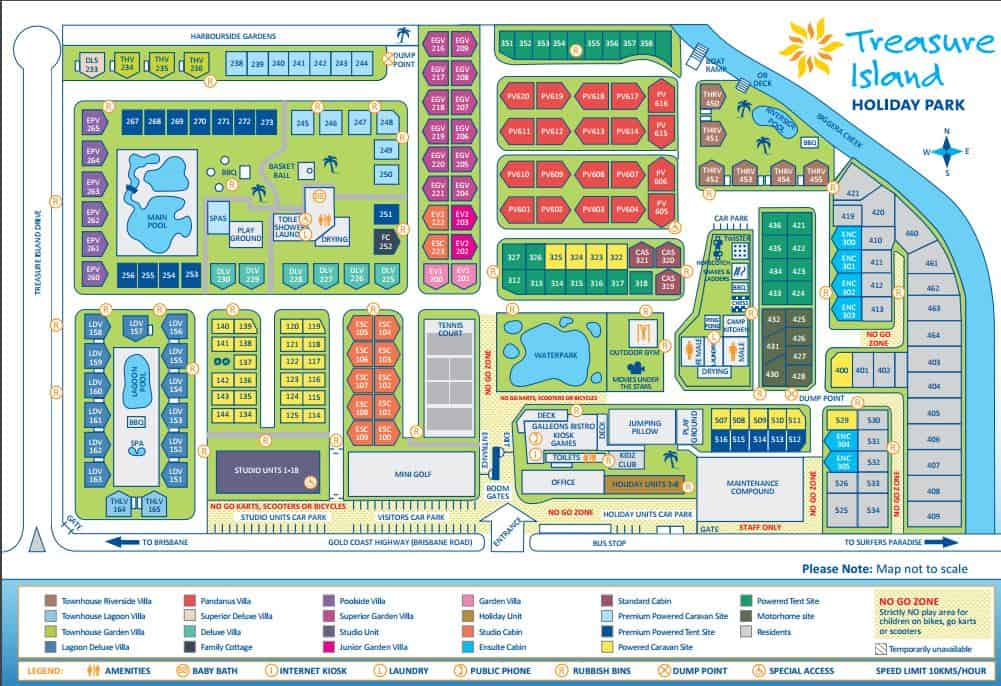 Treasure Island Holiday Park Map