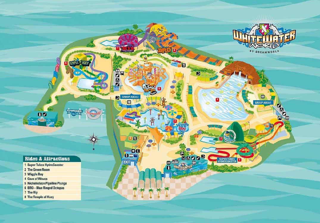 White Water World Map