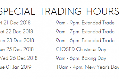 Robina Town Centre Christmas Trading Hours